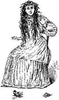 An artist's drawing of Betsy Bell, originally published in 1894 Bell Witch