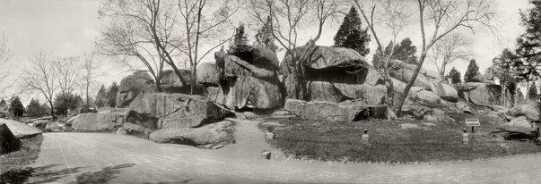 1909 photo of Devil's Den — Gettysburg National Military Park, Gettysburg, Pennsylvania.