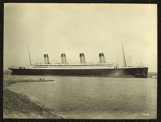 Titanic Moored Off County Down Coast