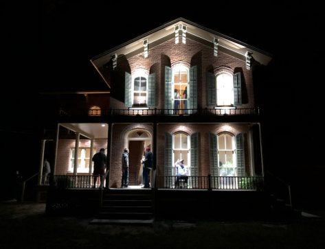Roff House at Night https://www.landmarks.org/preservation-programs/richard-h-driehaus-foundation-preservation-awards/roff-house-watseka/