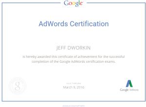 Adwords Cetification