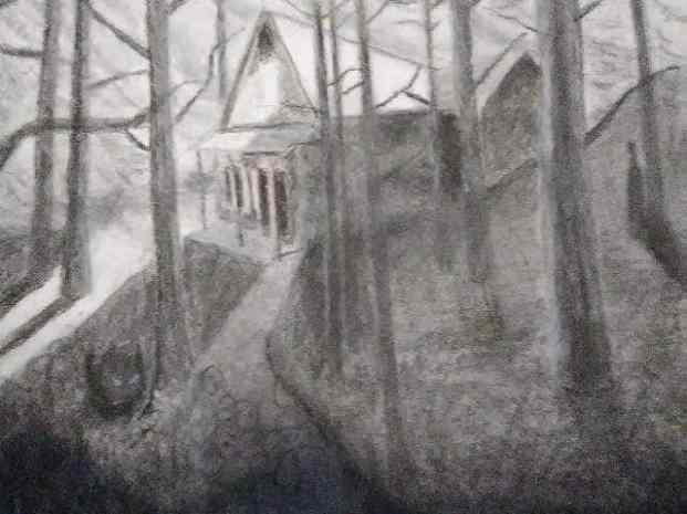 Haunted Woods Drawing