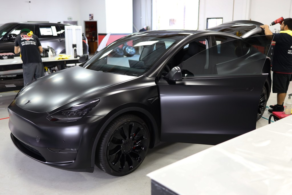 Model Y Smoked Lights by Ghost Shield Film in Thousand Oaks
