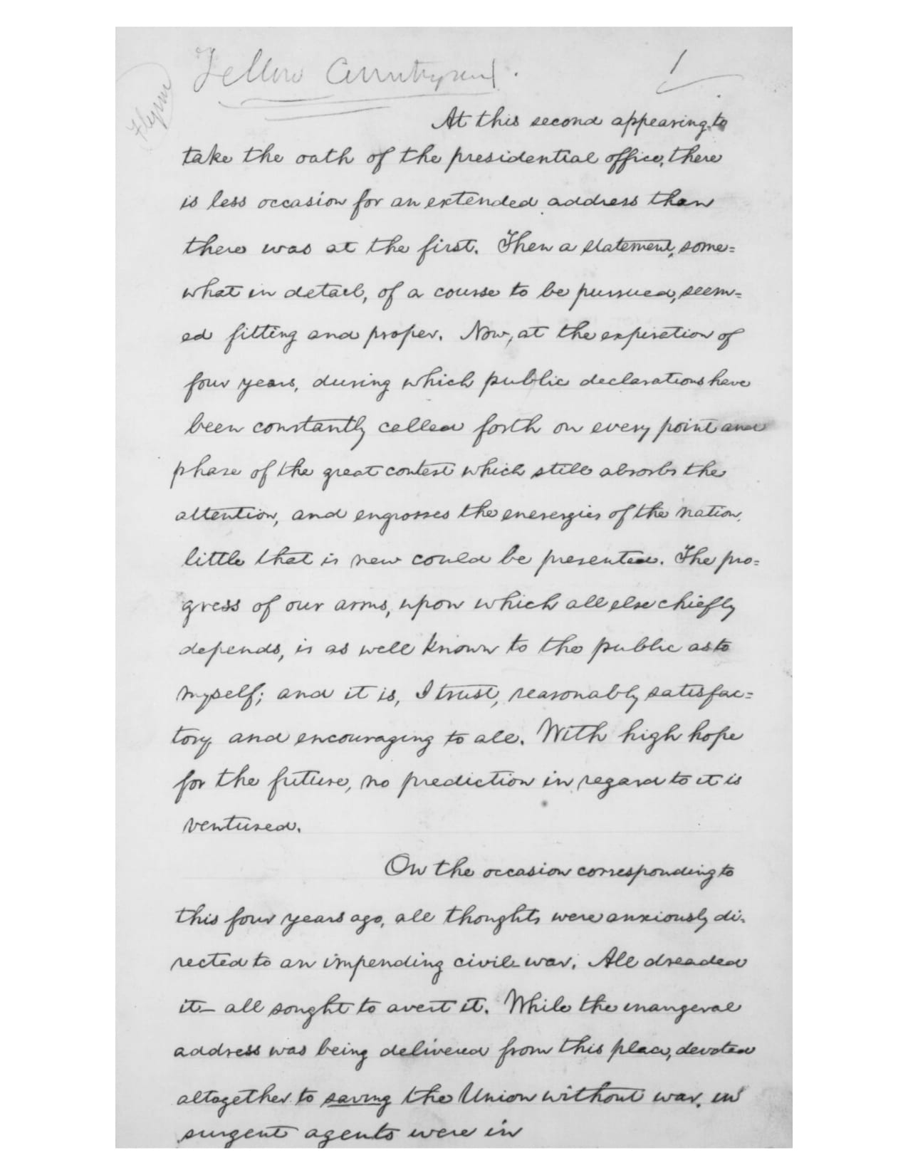 Lincoln S Second Inaugural Address March 4