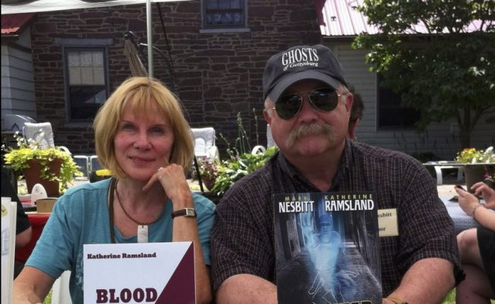 Mark Nesbitt of Ghosts of Gettysburg with co-author and forensics expert Katherine Ramsland