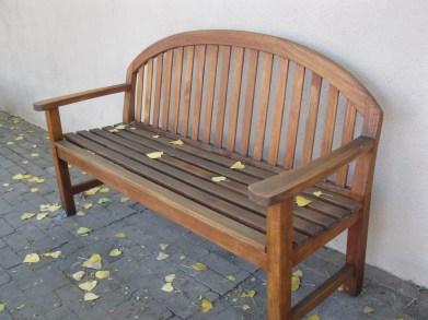 Taos Plaza bench