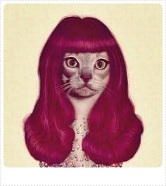 cat 50s hair