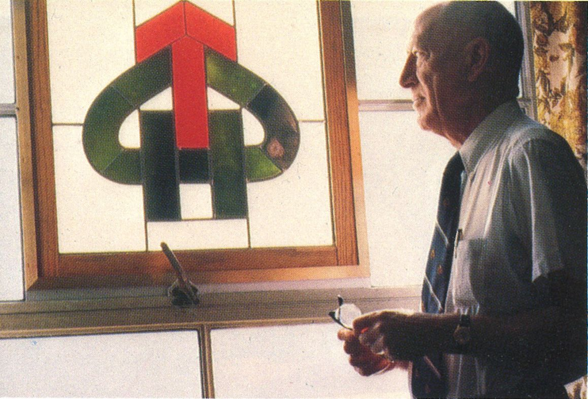gerry phipps with stain glass logo