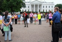 Participants marched to the White House to read the coalition's list of demands