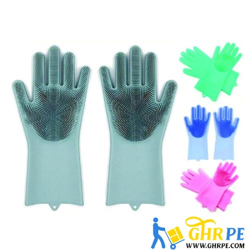 Max Home Magic Silicone Dish Washing Gloves
