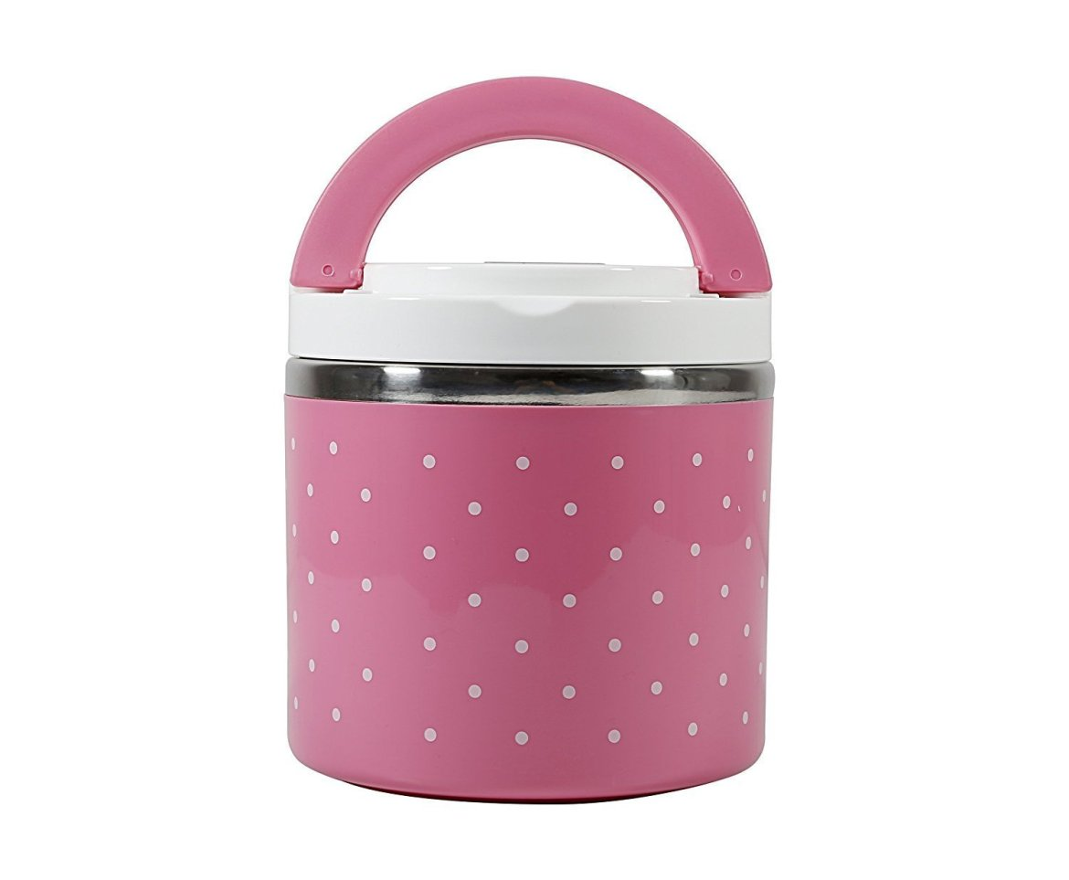 Multi-color one layer Round lunch box/Food Warmer