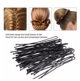 Funky Hair Pin Pack For Girls Hairstyle(Black)