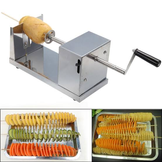 New Stylish Manual Stainless Steel Twisted Potato Slicer