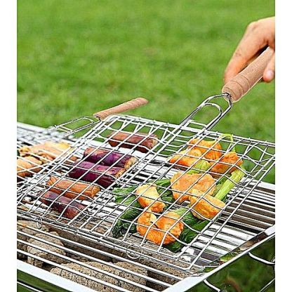 Imported Bar.B.Q Stainless Steel Hand Grill Net stock