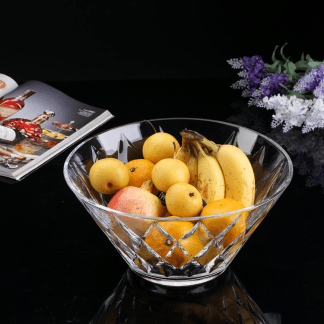 Beautiful Imported Clear Glass Fruit Bowl