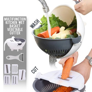 New Multi-functional Vegetable Cutter With Drain Basket
