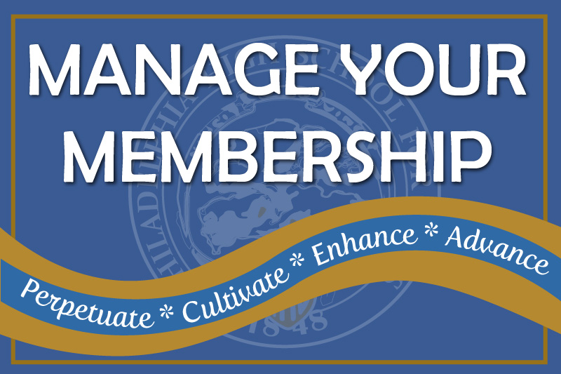 Manage your membership at AAPHSG