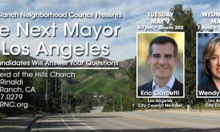Mayoral Candidates Eric Garcetti and Wendy Greuel to Answer Your Questions in Porter Ranch