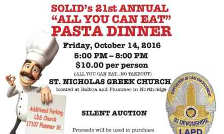 """SOLID's 21st Annual """"All You Can Eat"""" Pasta Dinner"""