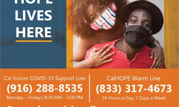COVID-19 Counseling Available from Cal Voices Crisis Counseling Assistance and Training Program (CCP)