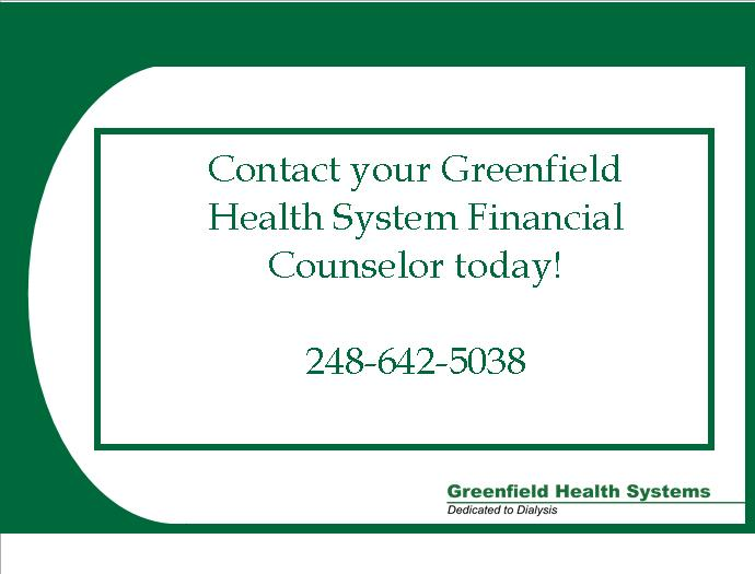Financial Counselor  Greenfield Health Systems
