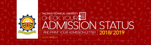 Takoradi Technical University Admission List
