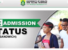 UHAS Postgraduate Admission List
