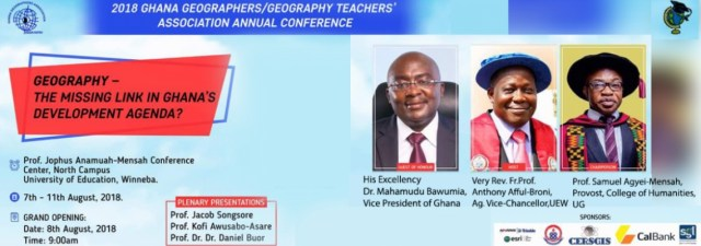 2018 Ghana Geographers/Geography Teachers' Association Annual Conference