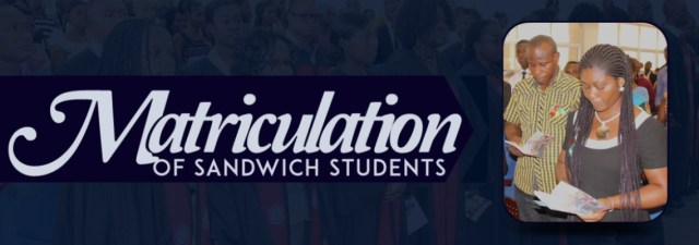 UEW Matriculation of Fresh Sandwich Students