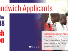 UEW Sandwich Admission List