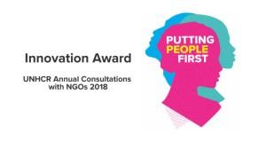 UNHCR Annual Consultations with NGOs Innovation Award