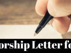 Sponsorship Letter For Schengen Visa Application