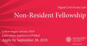 Digital Civil Society Lab Non-Resident Fellowship