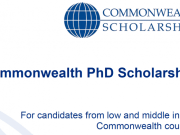 Commonwealth PhD Scholarships