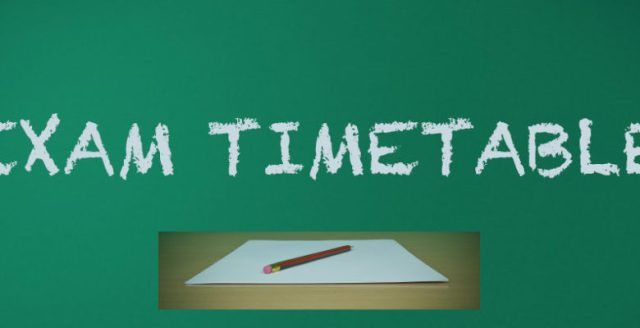 HTU Exam Timetable