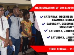 UEW Matriculation of Distance Education Students