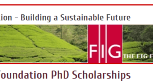 FIG Foundation PhD Scholarships