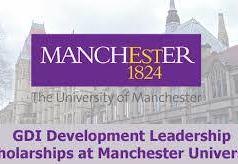 Global Development Institute (GDI) Masters Scholarships