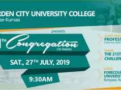 Garden City University College Congregation