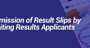 UEW Submission of Result Slips by Awaiting Results Applicants