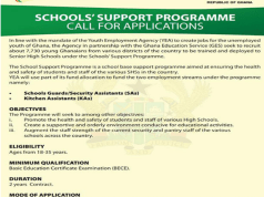 GES-YEA School Support Programme Application