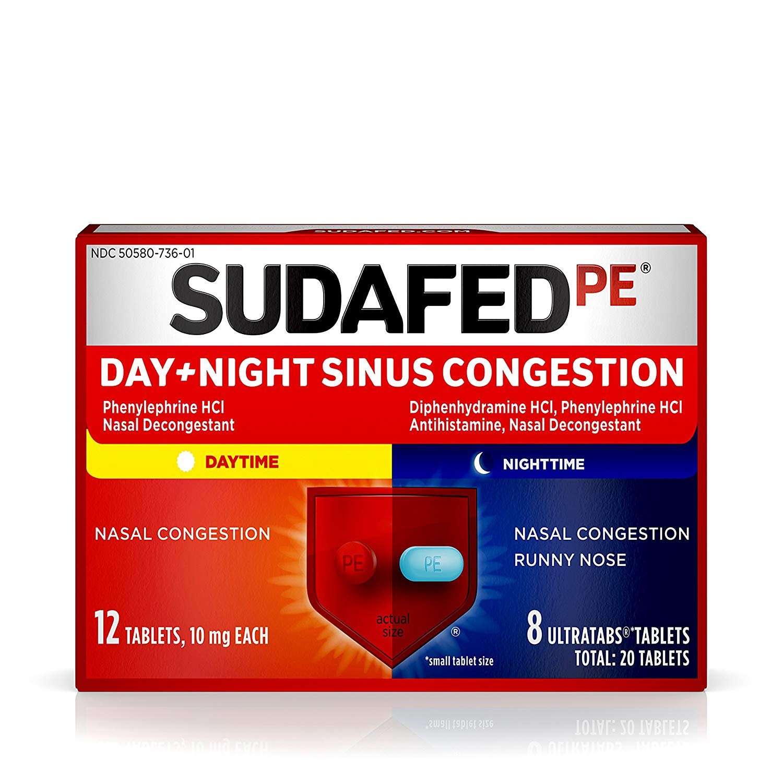 Sudafed PE Day and Night Sinus Pressure & Congestion ...