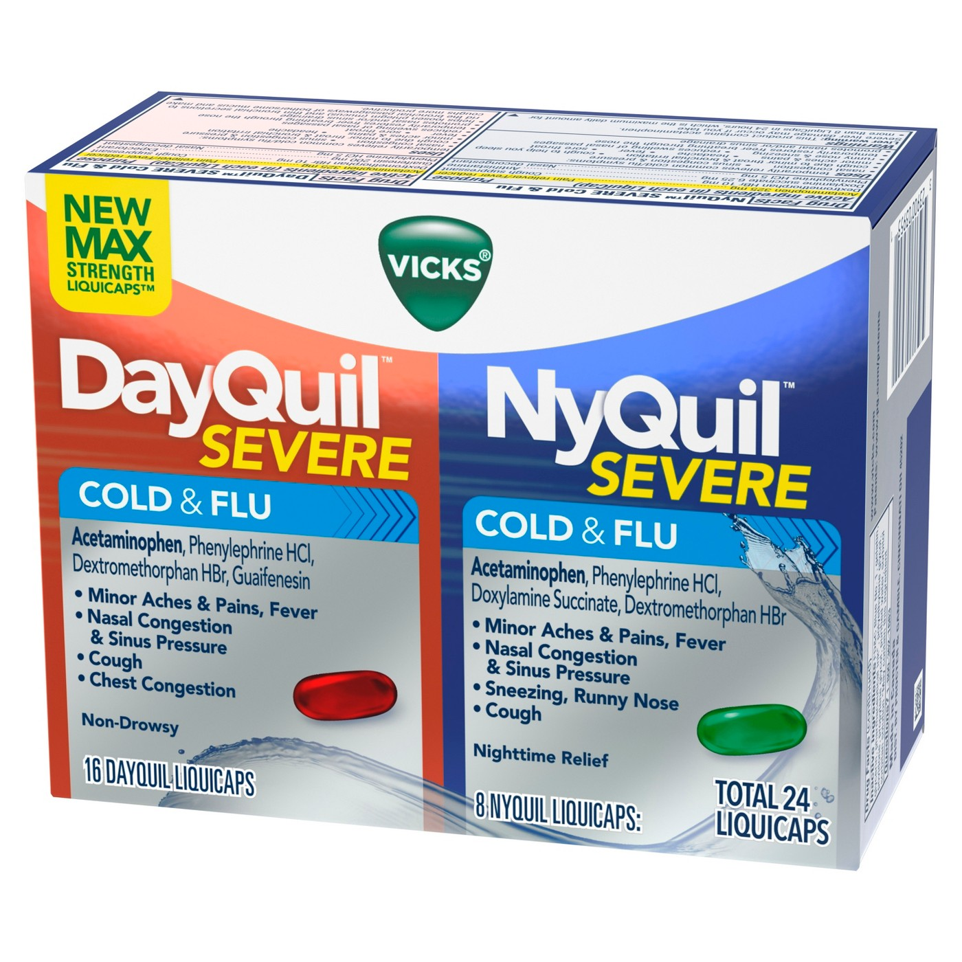 Vicks Max Strength Severe 16 Dayquil & 8 Nyquil Total 24 ...