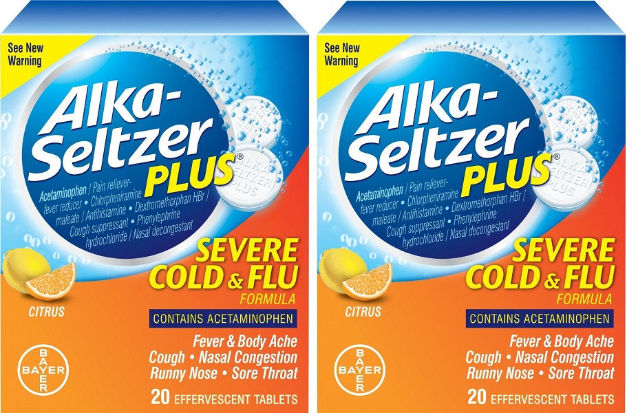 2 Pack Alka-Seltzer Plus Severe Cold & Flu Citrus Formula ...
