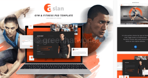 Download Gym & Fitness PSD Template Free