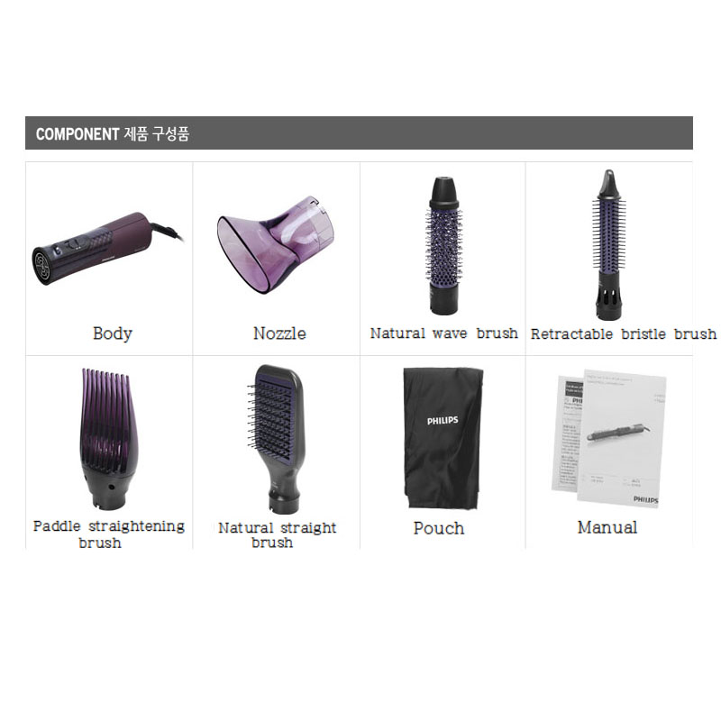 Philips HP 865600 ProCare Airstyler 220V 1000W Hair