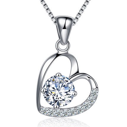 Buy Having seen the 925 silver dream heart-shaped clavicle