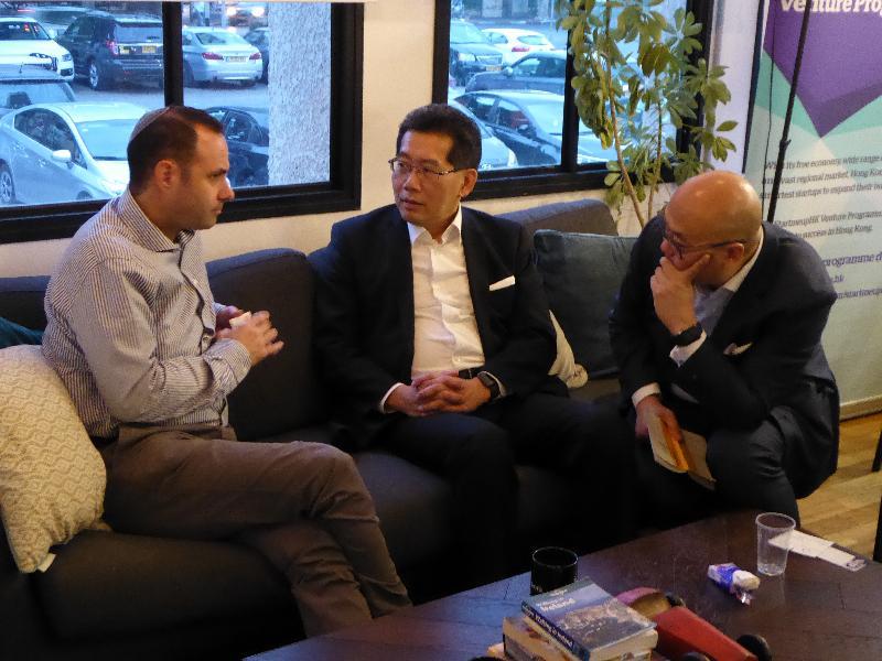 商務及經濟發展局局長訪問以色列促進雙邊關係(附圖)
