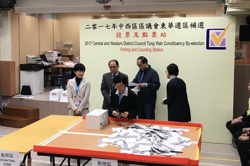 中西區區議會補選最後投票率(附圖)