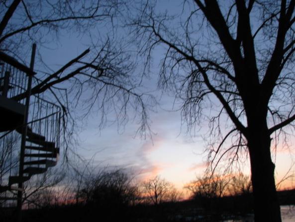 Feb. 28, 2009 - sunset at the Briber's cottage